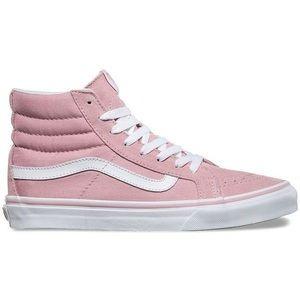Pink Sk8-Hi Slim Vans